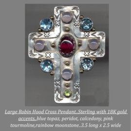Collectors take notice..Sterling multi-gem Cross